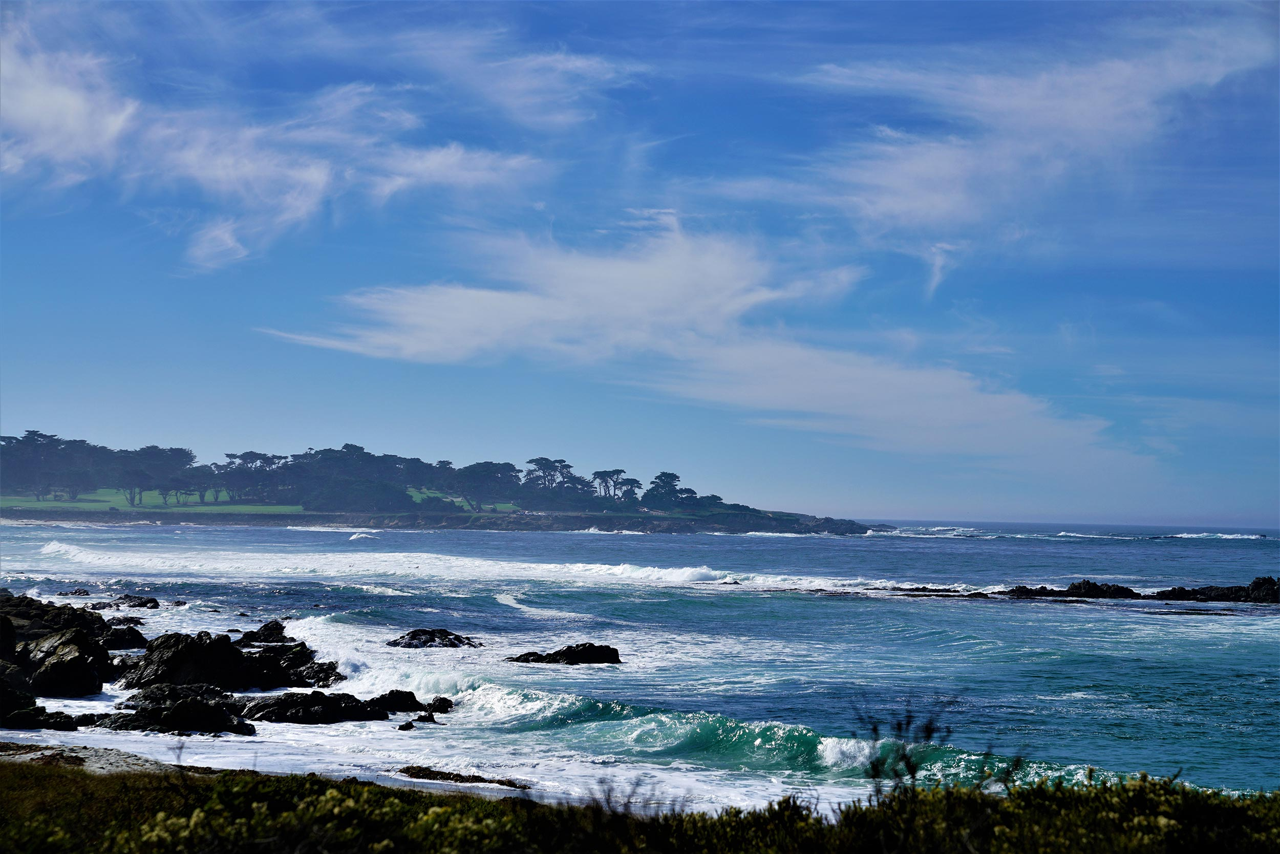 Beautiful beach view in Monterey