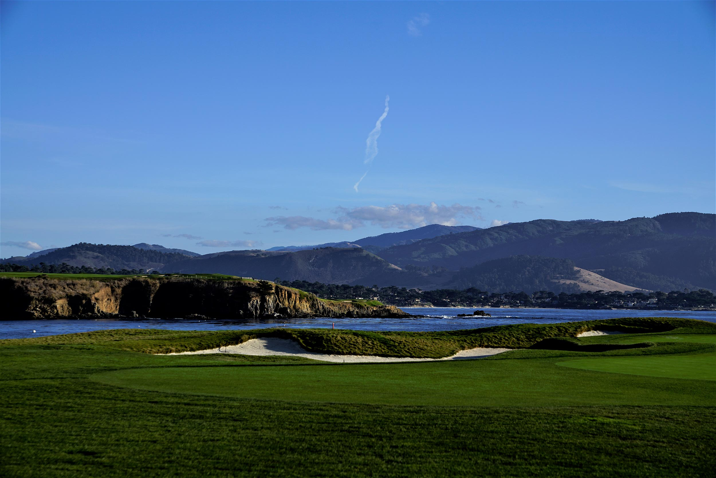 One of many golf courses near Monterey
