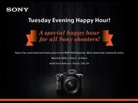 Attention Sony Shooters! Join us for a special Happy Hour prior to the March 8th Keynote at WPPI!